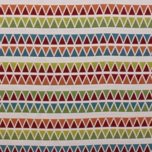 Tecido Sunikat Stripe PR Multi White Jacquard