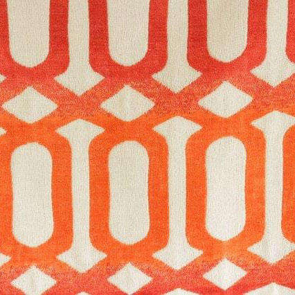 Tecido Vitel 79 Tangerine Jacquard