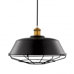 Luminária preta de alumínio