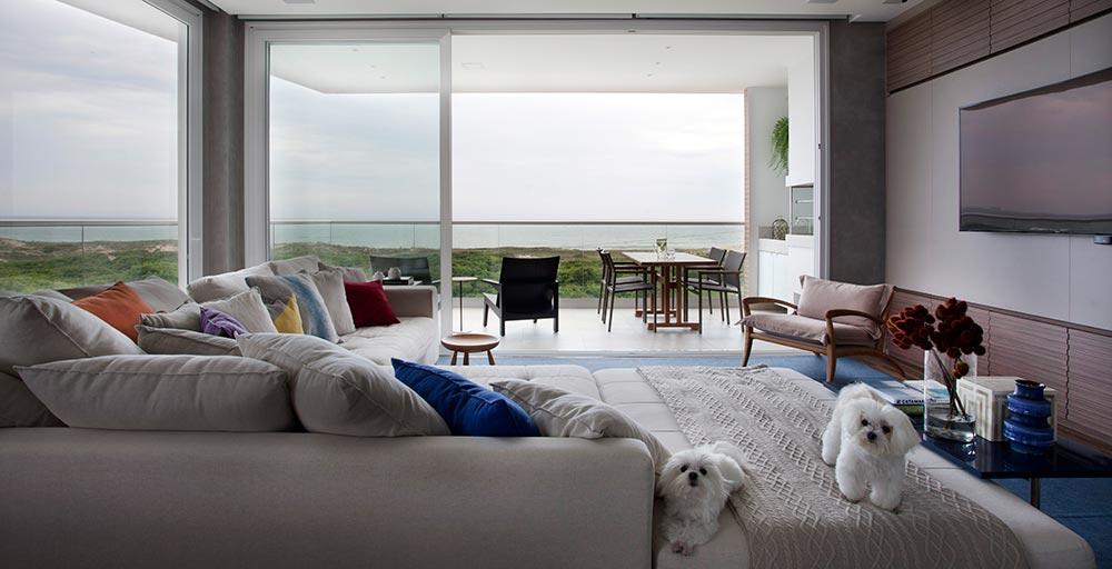 Um apartamento com vista para o mar de Florianópolis