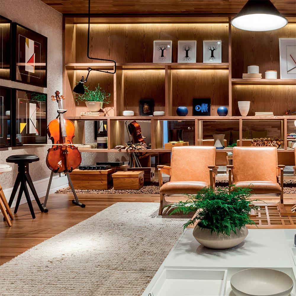 O violoncelo é a peça principal deste estúdio