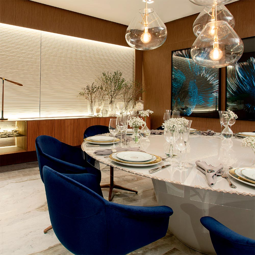 Sala de jantar privilegia o convívio familiar
