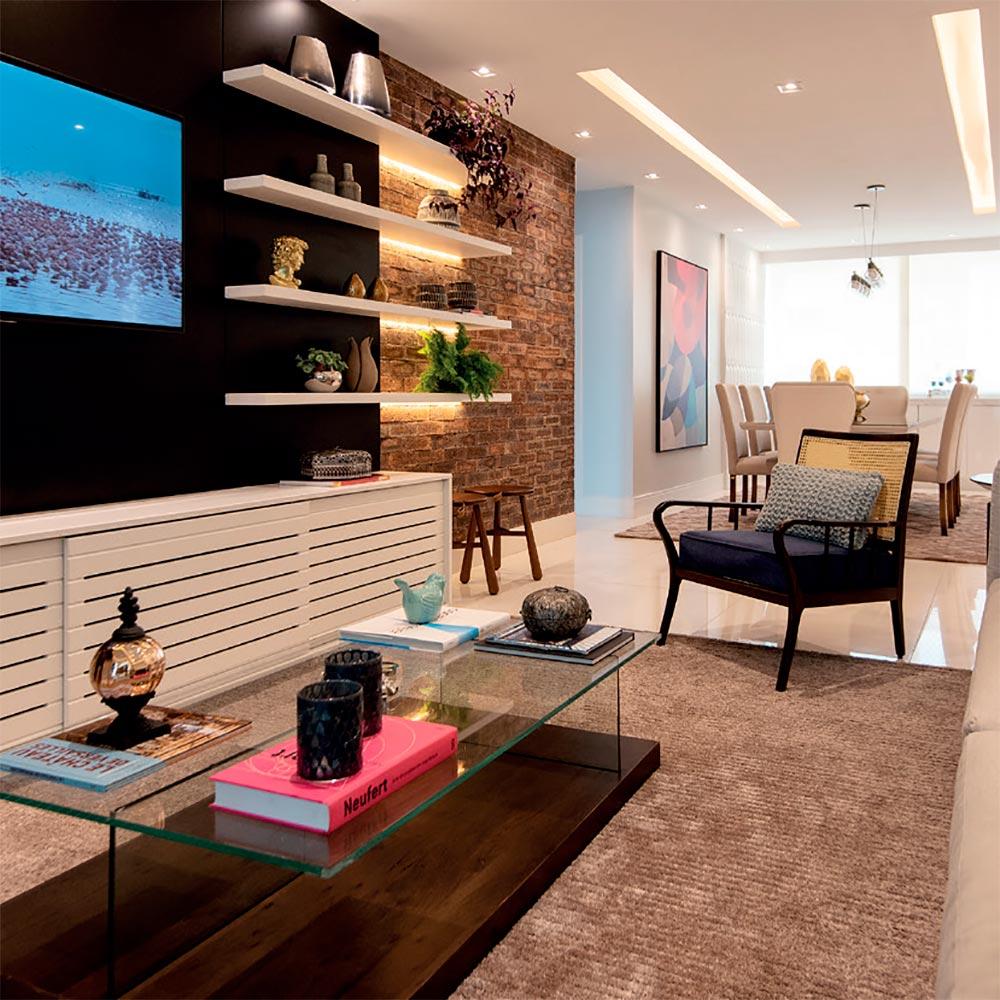Apartamento no Maranhão mescla o rústico com o moderno