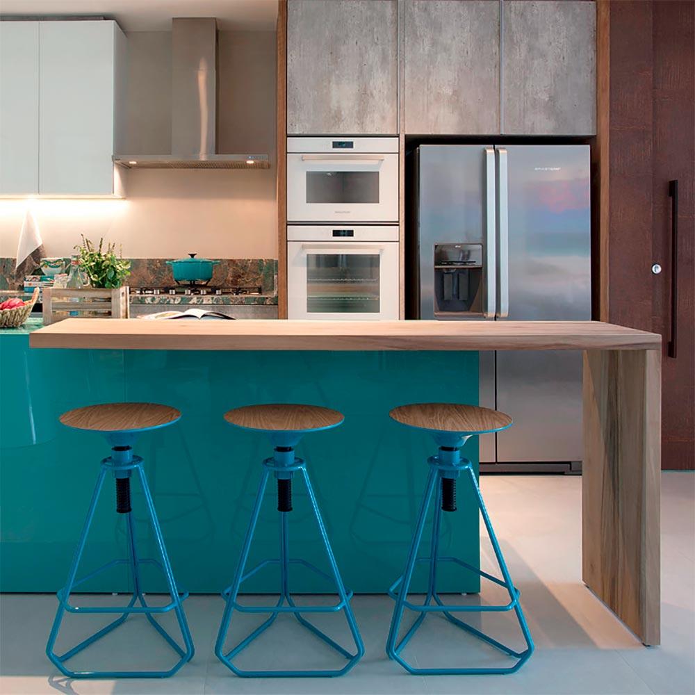 Apartamento catarinense tem cara de casa de férias