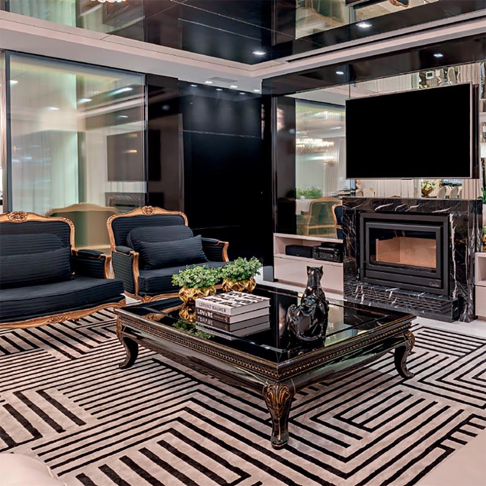 Apartamento com décor contemporâneo aposta em mix de materiais