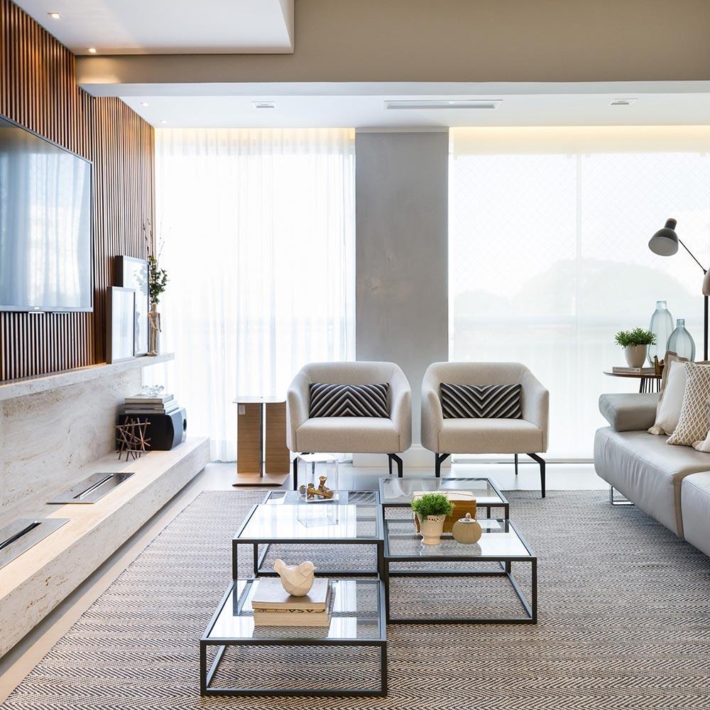 Apartamento em Porto Alegre tem décor clean e aconchegante