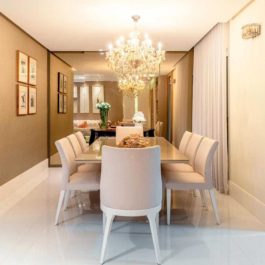 Apartamento mistura peças clássicas com mobiliário contemporâneo