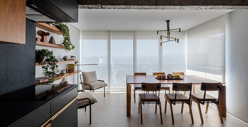 Apartamento de 70 m² tem vista para o Memorial da América Latina
