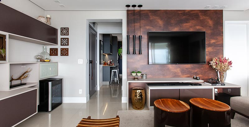 Apartamento projetado para receber os amigos