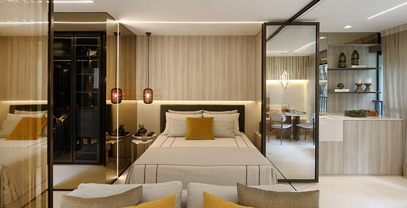 Apartamento de 44 m² tem décor inspirado na cultura árabe