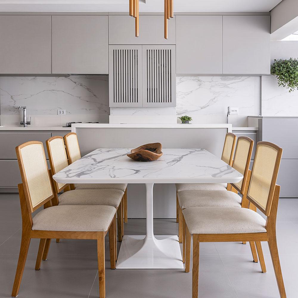 Apartamento ganha décor clean e ambientes integrados