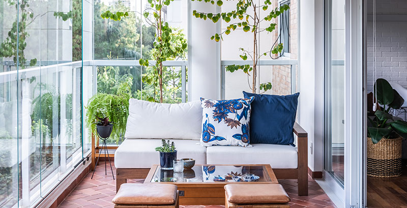 Apartamento com décor rústico e clima de férias