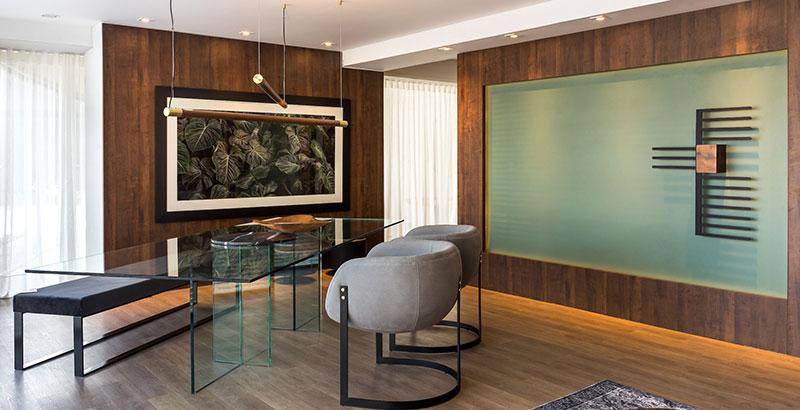 Sala de estar une conforto e natureza em 40 m²