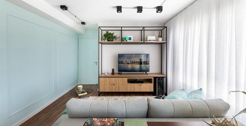 Neo Mint traz frescor e charme para este apartamento
