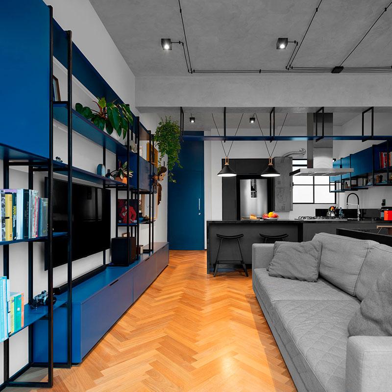 Apartamento de 50 m² para morar e trabalhar