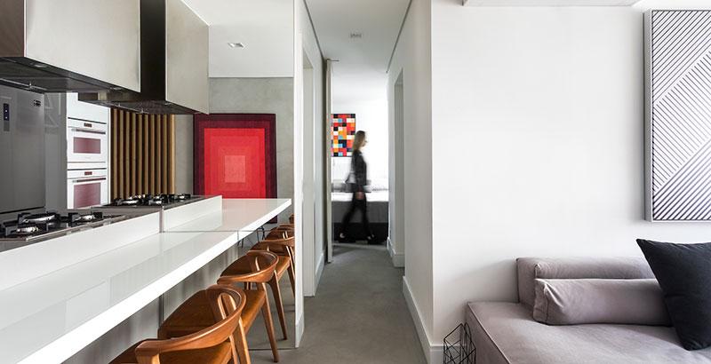 Apartamento de 48 m² dos anos 2000 ganha repaginação moderna