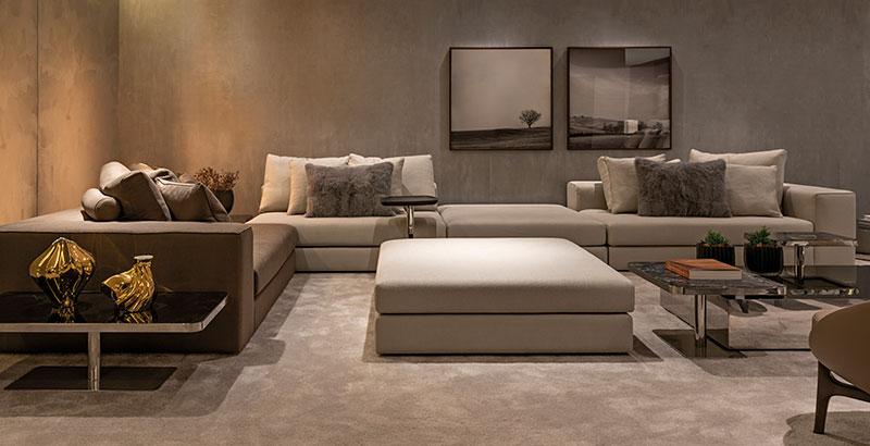 Loft de 85 m² mescla cinza e marrom no décor