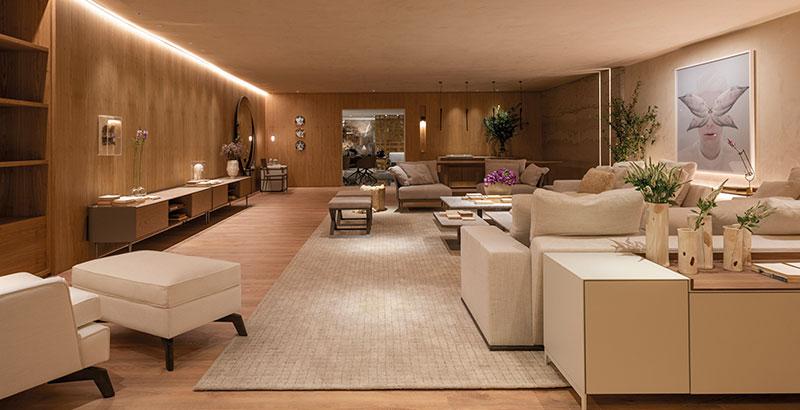 Sala tem décor inspirada na estética italiana das décadas de 1940 e 1970