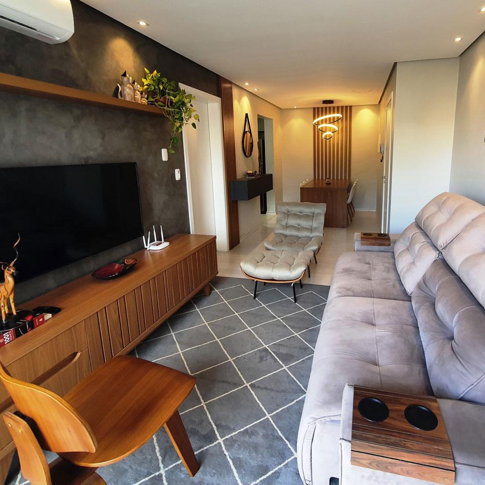 Apartamento de 80 m² mistura clássico e contemporâneo no décor