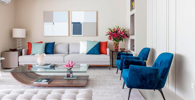 Apartamento de 250 m² ganha integração inteligente e décor contemporâneo