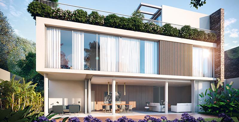 Jardins privativos criam cinturão verde em torno de condomínio de casas