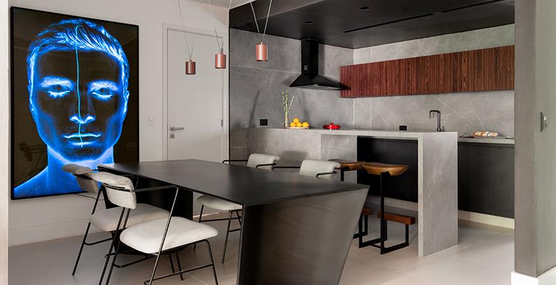 Apartamento alugado de 120 m² tem ares de galeria