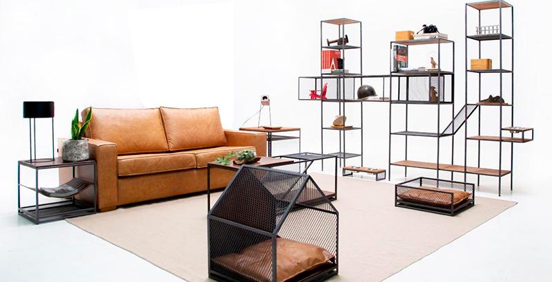 Obj Estúdio lança linha de móveis com estilo industrial para pets