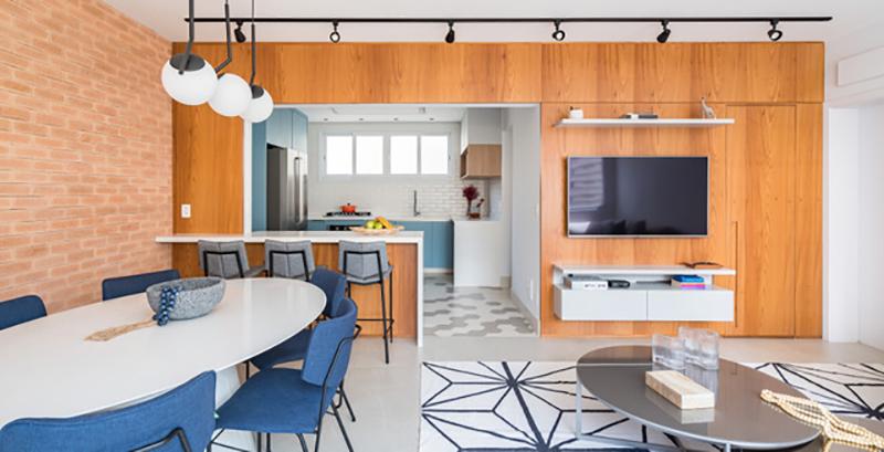 Apê de 130 m² ganha repaginação com décor jovem e descolada