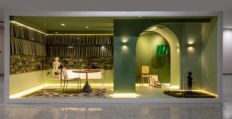 Janelas CASACOR: um escritório repleto de verde, aconchego e natureza