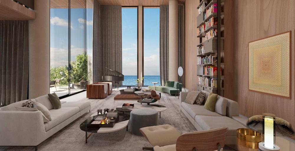 Apartamento sem paredes tira proveito da vista para o litoral baiano