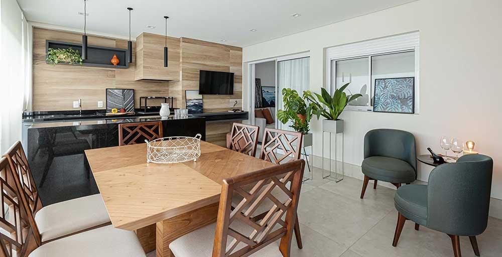 Apartamento projetado para moradores amantes de vinho