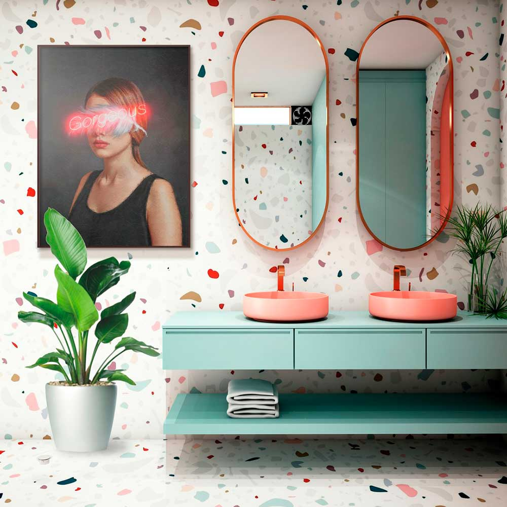 4 dicas da Urban Arts para decorar o banheiro com quadros