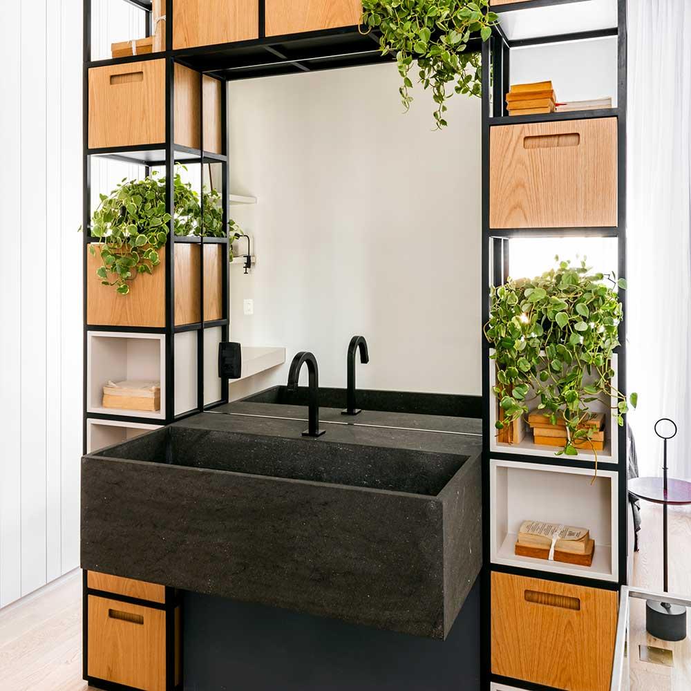 Apartamento de 60 m² ganha funcionalidade com marcenaria sob medida