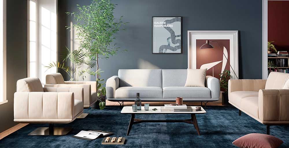 Natuzzi Editons indica modelos de sofás para espaços compactos