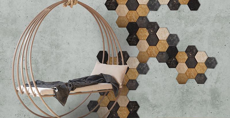 Papelão Joia apresenta revestimentos decorativos feitos com resíduos sólidos