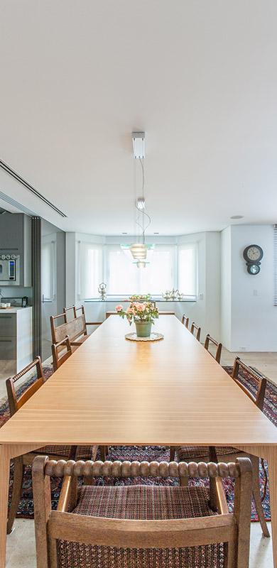 Apartamento é ideal para os avós receberem os sete netos