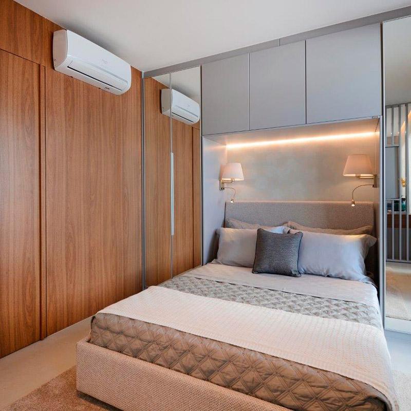 Portas mimetizadas integram ambientes de maneira discreta e elegante