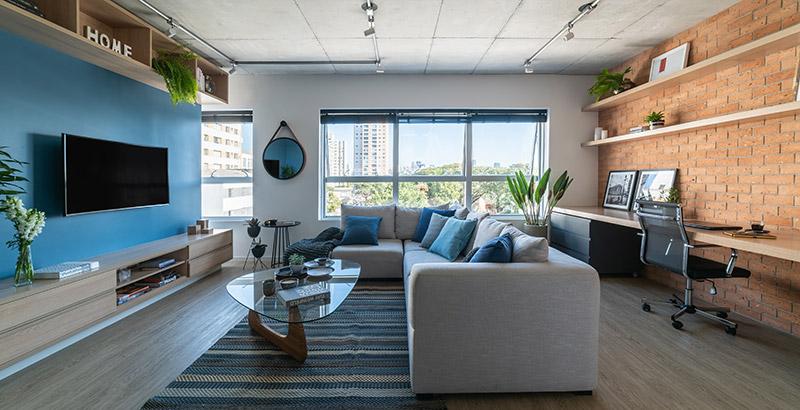 Apê de 72 m² para locação tem décor moderna e irreverente