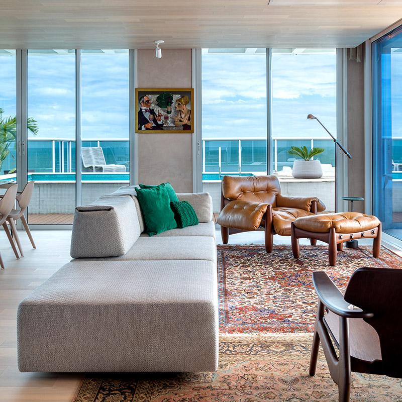 Apartamento com vista de 360º para o mar de Itajaí