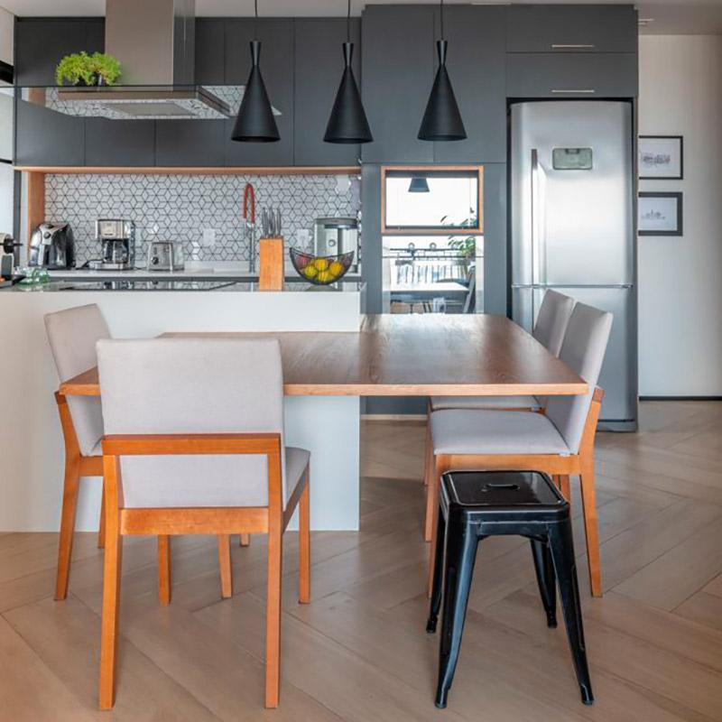 Apartamento de 65 m² integrado para receber os amigos