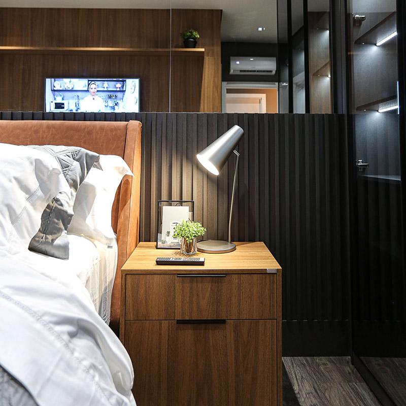 Apartamento contemporâneo com décor masculina