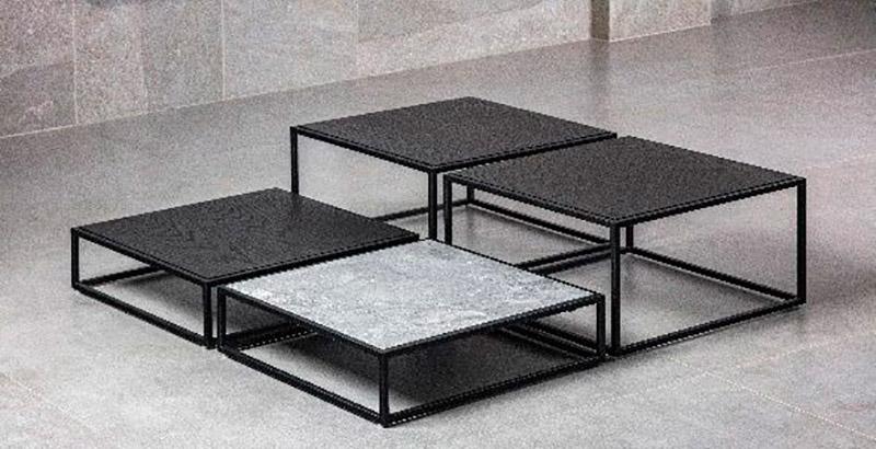 Fahrer cria linha de mobiliário com acabamento em pedras naturais