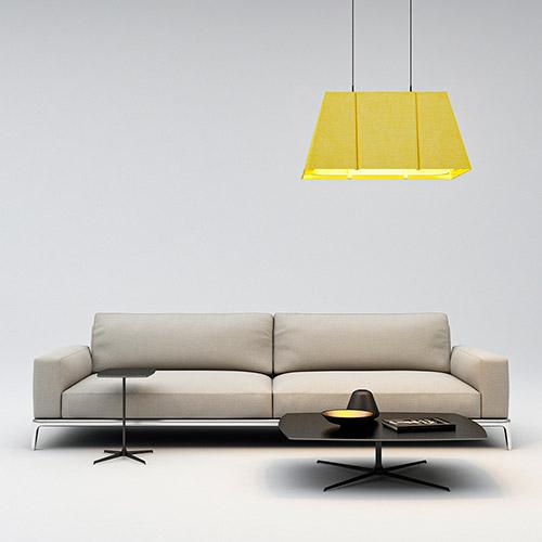 Luminária acústica WIND